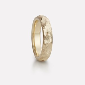 Fjell ring in yellow gold, men`s