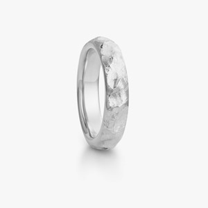 Fjell ring in white gold, men`s