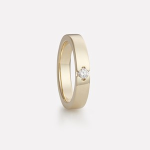 Majestetisk ring in yellow gold with diamond, women`s