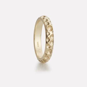 Boble ring yellow gold, men`s