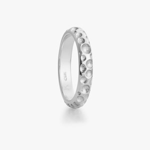 Boble ring white gold, men`s
