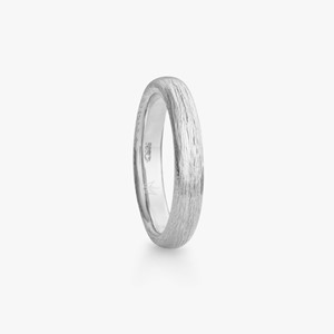 Fossefall ring in white gold, men`s