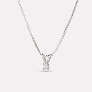 Karin pendant in white gold with diamond