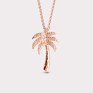 Palm tree pendant in rosé gold