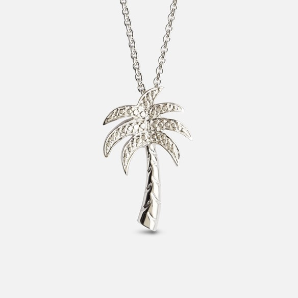 Palm tree pendant in silver